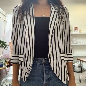 Stripe Casual Blazer